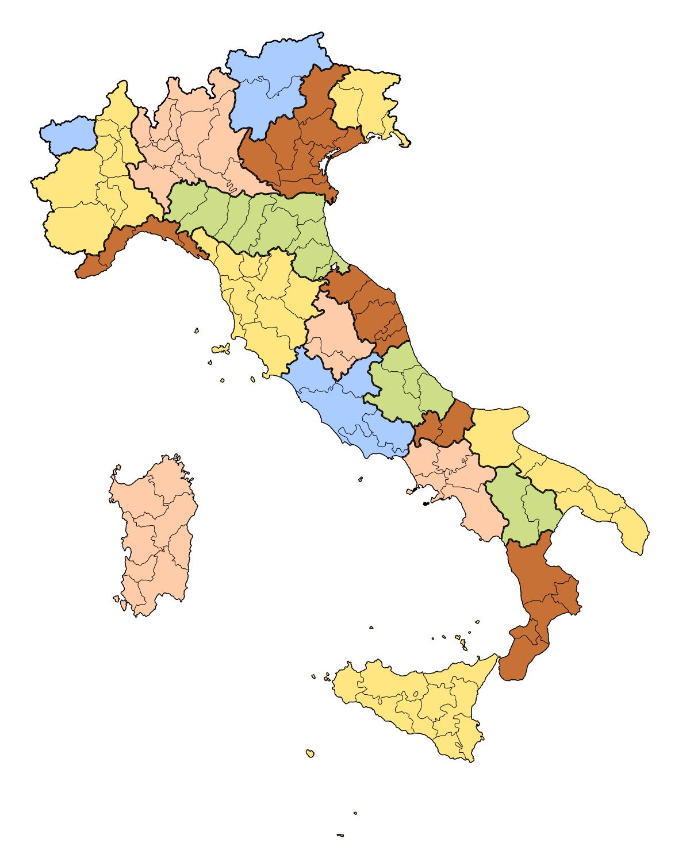 Italien Karta Quiz Karta Over Italien Fragesport Sodra Europa
