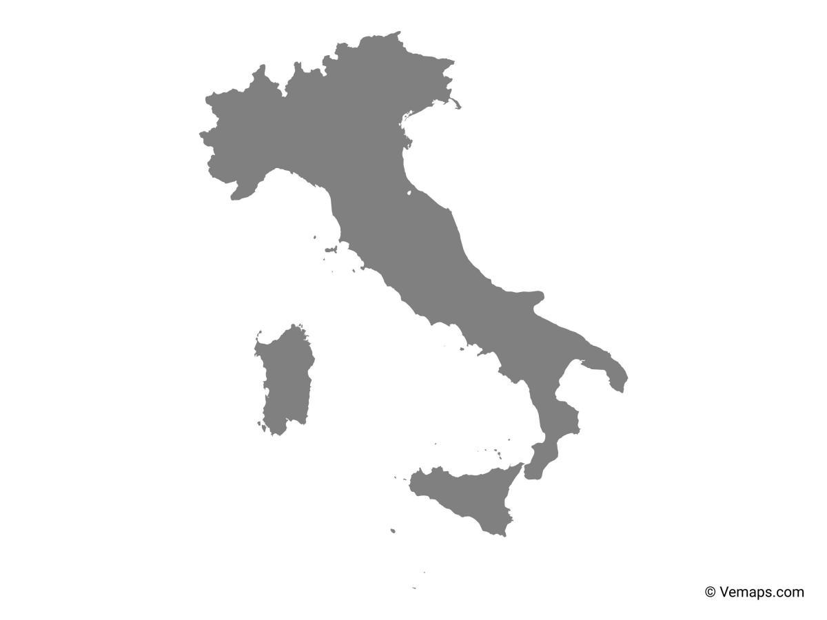 Italien Karta Vektor Karta Over Italien Vektor Sodra Europa