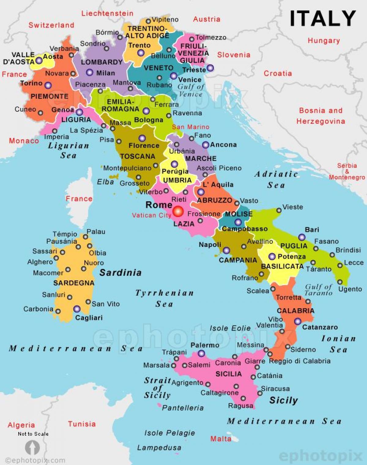 Gammal Karta Italien.Karta Over Italien Karta Over Italien For Att Skriva Ut Sodra