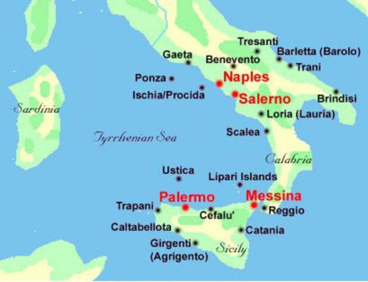 Karta Over Sodra Italien Kusten Karta Over Italien Sodra Kusten